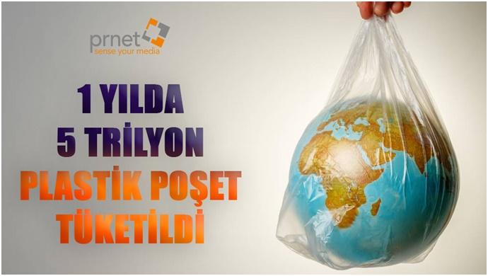 1 Yılda 5 Trilyon Plastik Poşet Tüketildi