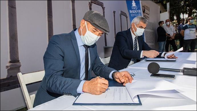12 milyon liralık kazı desteği verilen Smyrna Agorası için protokol