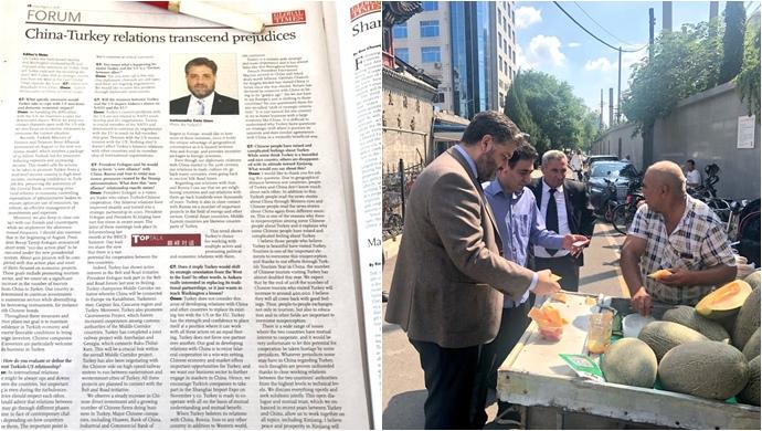 30 Ağustos Zaferi Çin Gazetesi manşetinde