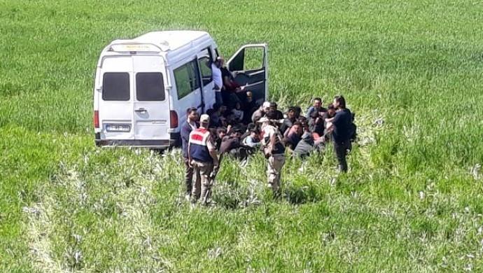 49 mülteciyi taşıyan araç yoldan çıktı: 4 mülteci yaralı