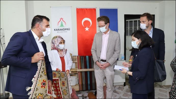 AB Türkiye Delegasyonu Başkanından Karaköprü'deki Kurslara Ziyaret