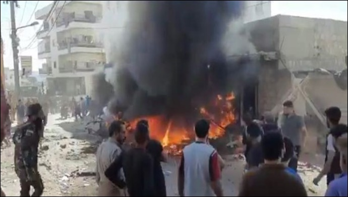 Afrin'de bombalı saldırı: 3 ölü, 6 yaralı