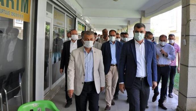 AK Parti Heyetinden Hububatçılara Hayırlı olsun Ziyareti-(Fotolu-Haber)