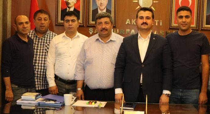 AK Parti İl Başkanı Yıldız'a Gazetecilerden hayırlı olsun ziyareti