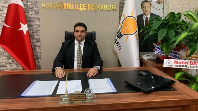 AK Parti Karaköprü İlçe Başkanı Ağan'dan Gaziler Günü mesajı