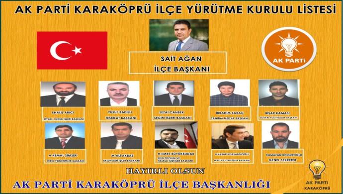AK Parti Karaköprü'de Yürütme Kurulu Belirlendi