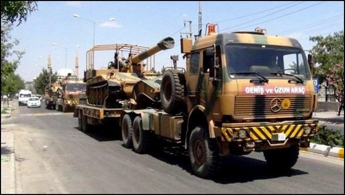 Akçakale Sınırına Askeri İş Makineleri Sevk Edildi
