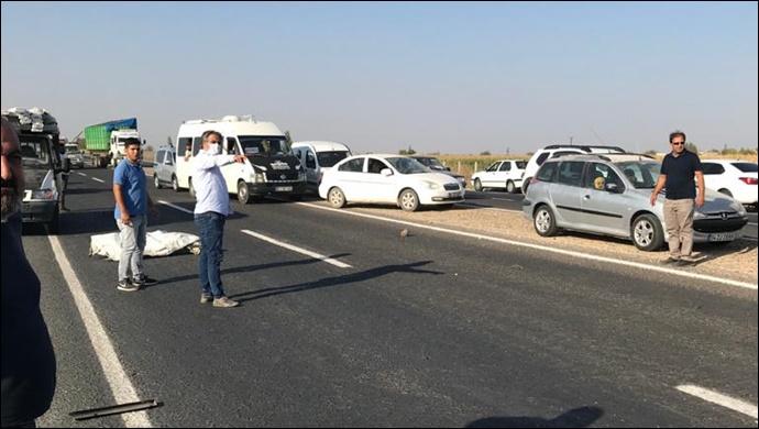Akçakale Yolu'nda otomobil ve kamyonet çarpıştı: Yaralılar var!
