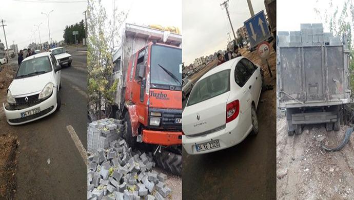 Akçakale'de maddi hasarlı kaza !