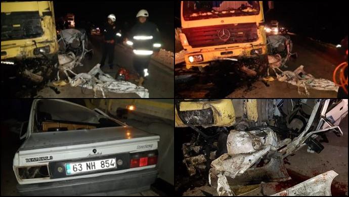 Akçakale'de otomobil ve kamyonet çarpıştı: 1 ölü