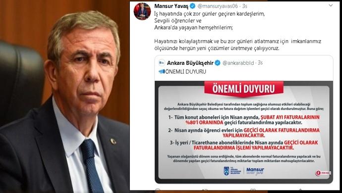Ankara Büyükşehir Belediyesi sayaç okuma işlemlerini durdurdu