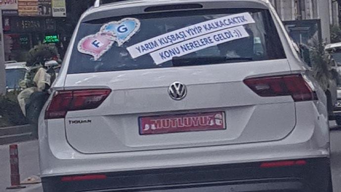 Bakın Urfa'da düğün arabasına ne yazdılar?