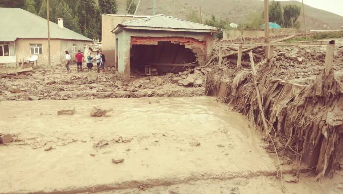 Başkale'de sel: Onlarca ev ve ahır yıkıldı