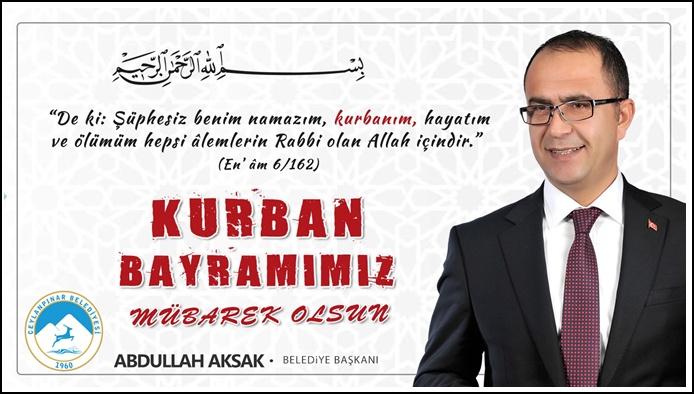 Başkan Aksak'tan Kurban Bayramı Mesajı