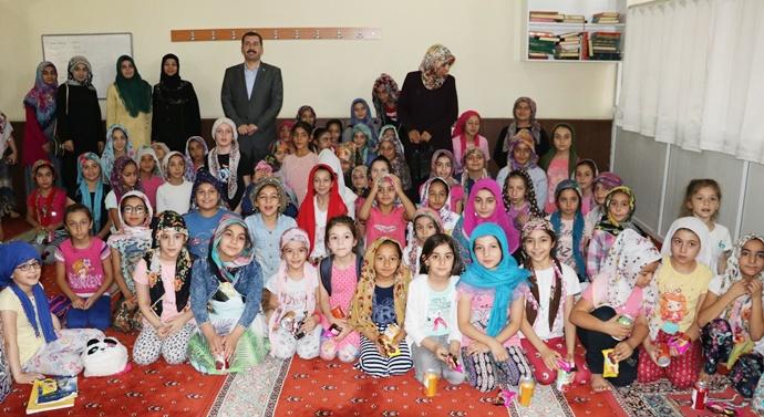 Başkan Baydilli Kuran'ı Kerim Öğrenen Çocuklarla Buluştu