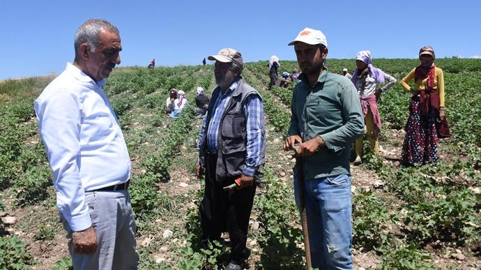 Başkan Bayık,'tan mevsimlik işçilerin sorunlarını dinledi