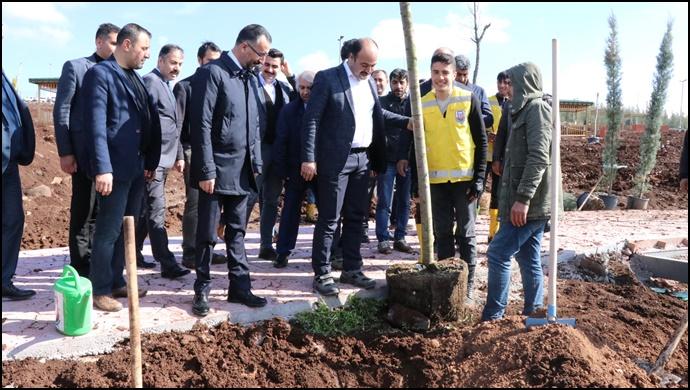 Başkan Çiftçi, Siverek Vadi Parkı İnceledi