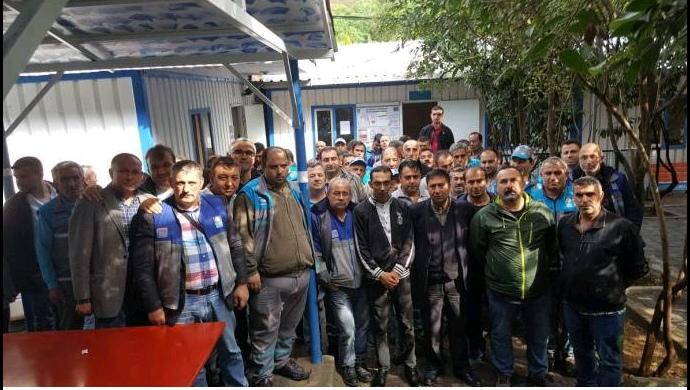 Beşiktaş Belediyesi temizlik işçileri iş bıraktı