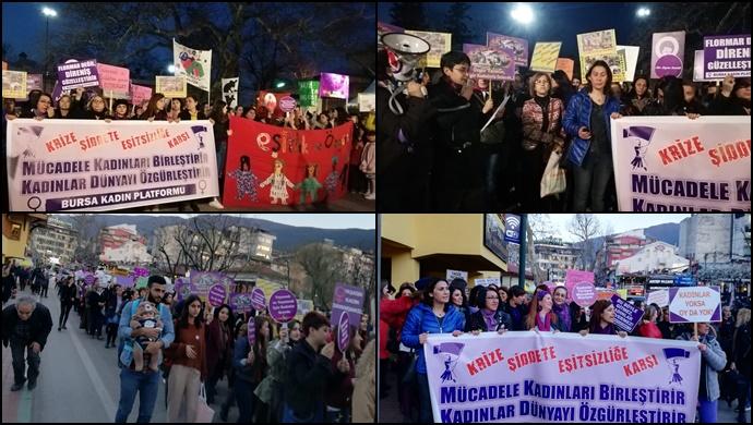 Bursa'da kadınlar 8 Mart'ı kutladı