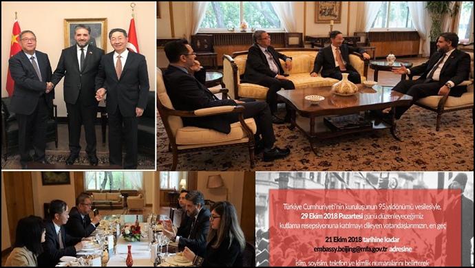 Büyükelçimiz Önen'den Çin Büyükelçiler onuruna yemek