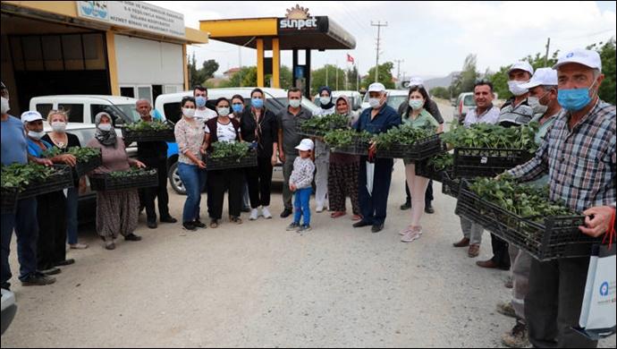 Büyükşehir çiftçilerin hizmetinde