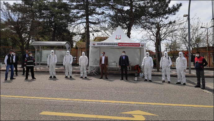 Büyükşehir İlçelere Dezenfekte İstasyonları Kuruyor
