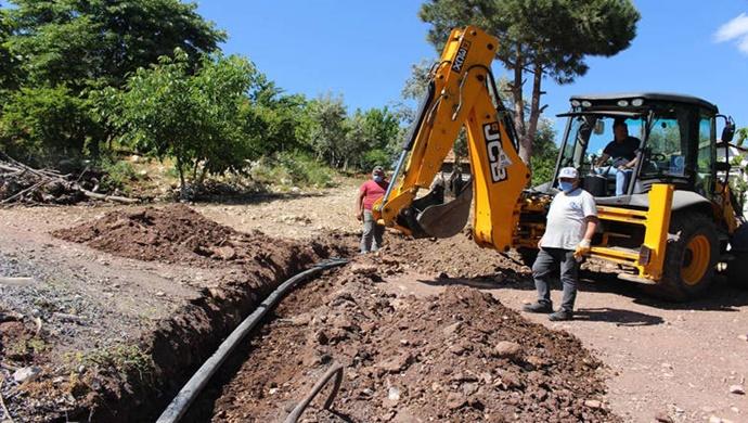 Büyükşehir'in tarımsal sulama desteği sürüyor
