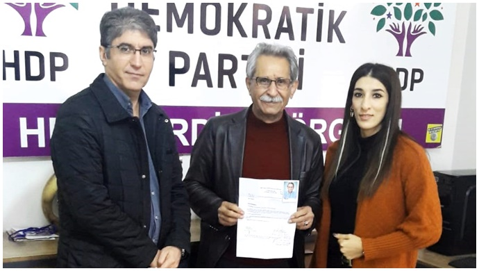 ÇEV-GÖN Başkanı Menduh Çakar , HDP'den Aday Adaylığı Başvurusu Yaptı