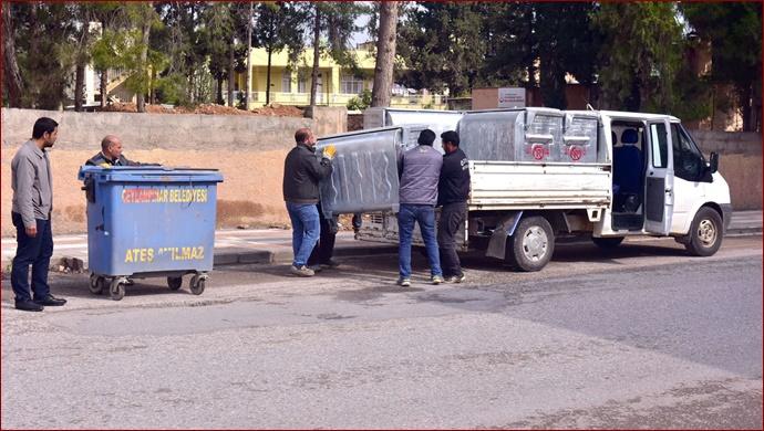 Ceylanpınar'daki Çöp Konteynerler Yenilendi