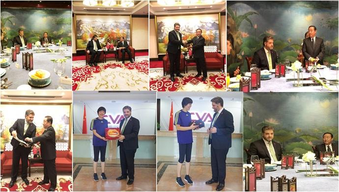 Çin Adalet Bakanından Büyükelçi Önen onuruna akşam yemeği