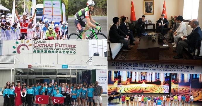 Çin'de Türk Bayrağını dalgalandırdılar