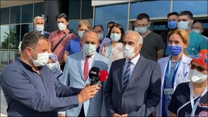 COVİD_19 Tedavisi Gören Aziz Aydınlık Taburcu Edildi-(VİDEO)