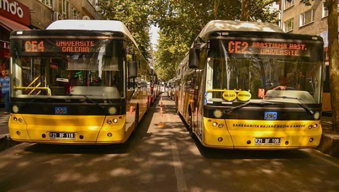 Diyarbakır'da bayramda toplu taşıma ücretsiz