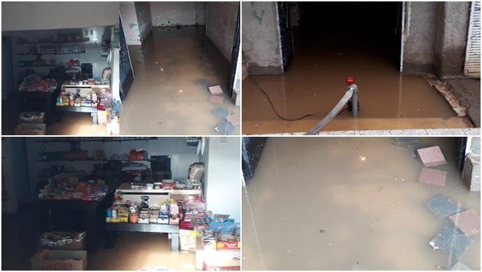 Diyarbakır'da bir site kanalizasyon suyu altında kaldı