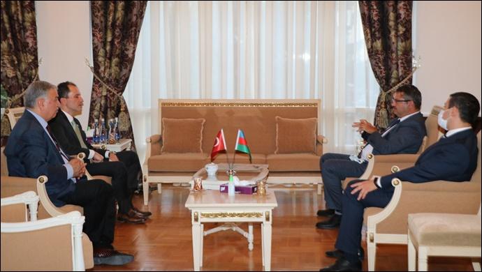 Erbakan'dan Azerbaycan Büyükelçisi İbrahim'e destek ziyareti