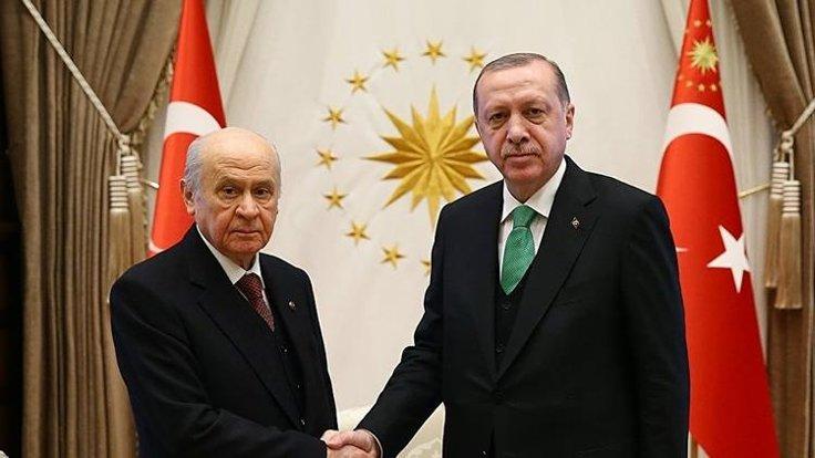 Erdoğan Bahçeli'yle 'lokal ittifak'ı konuşacak