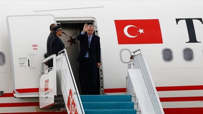 Erdoğan Katar'a uçtu