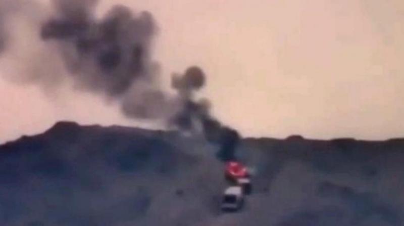 Ermeni güçleri: Azerbaycan'a ait bir helikopteri İran topraklarına düşürdük