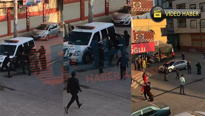 Eyyübiye'de kısıtlamada meydan kavgası! Polis müdahale etti