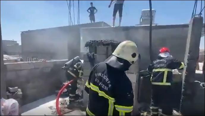 Eyyübiye'de odunluk yangını: İtfaiye müdahale etti