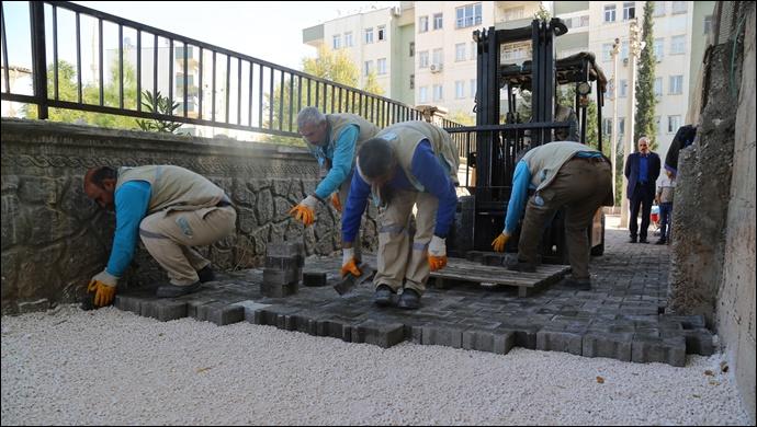 Haliliye belediyesi, yol yapım çalışmalarını sürdürüyor