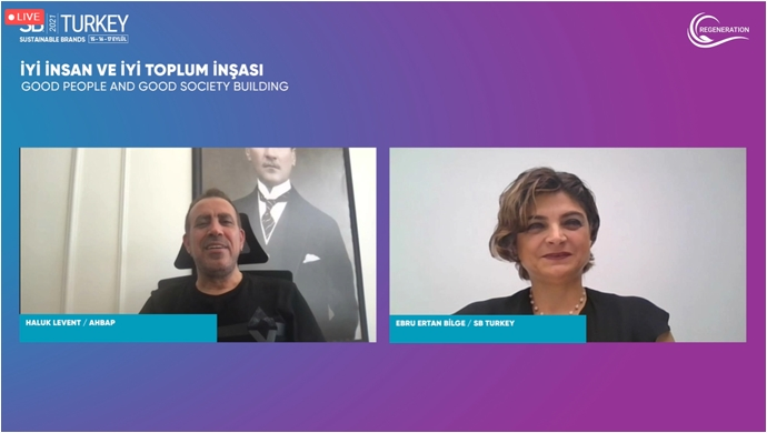 Haluk Levent SBTurkey'21 konferansındaydı