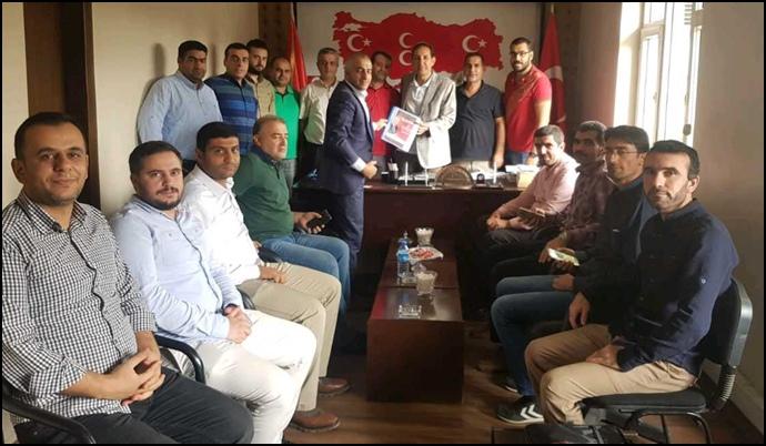 HBYS Çalışanlarından MHP İl Başkanı Güneş'e Ziyaret