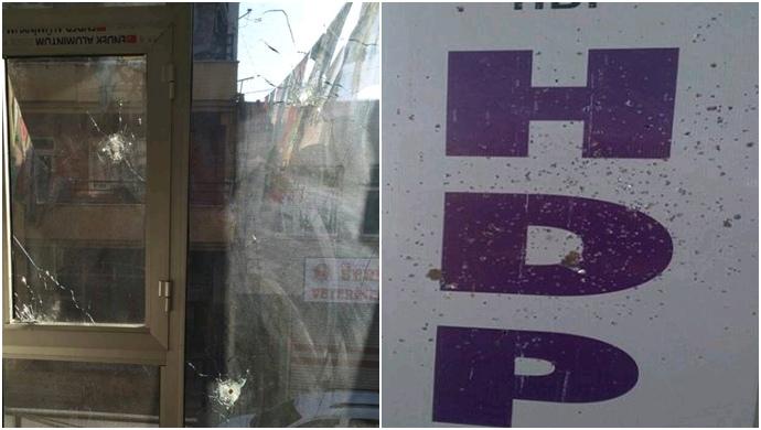 HDP binasına silahlı saldırı