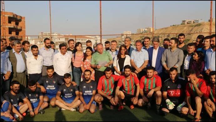 HDP Cizre Gençlik Meclisi'nin uyuşturucuya karşı futbol turnuvası başladı