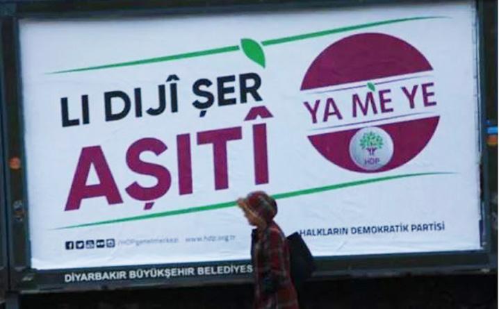HDP'nin afişleri mahkeme kararıyla toplatıldı