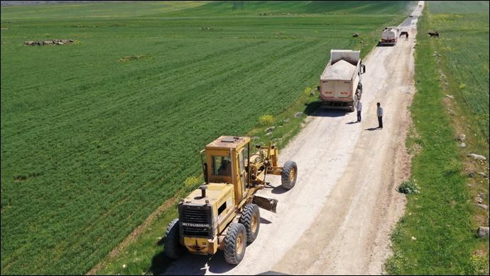 Hilvan Kırsalında Yol Yapım Çalışmaları Tamamlandı-(VİDEO)