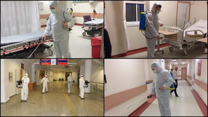HRÜ Hastanesi Koronaya Karşı Dezenfekte Edildi