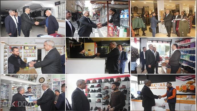 HÜDA PAR Şanlıurfa İl Başkanlığı Haliliye esnafını ziyaret etti