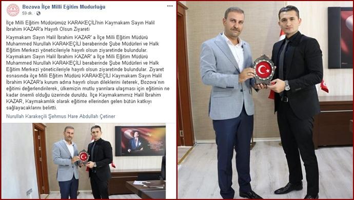 İlçe Milli Eğitim Müdürü Karakeçili'den Kazar'a 'Hayırlı Olsun' Ziyareti